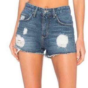 Lovers + Friends Jack high rise denim shorts